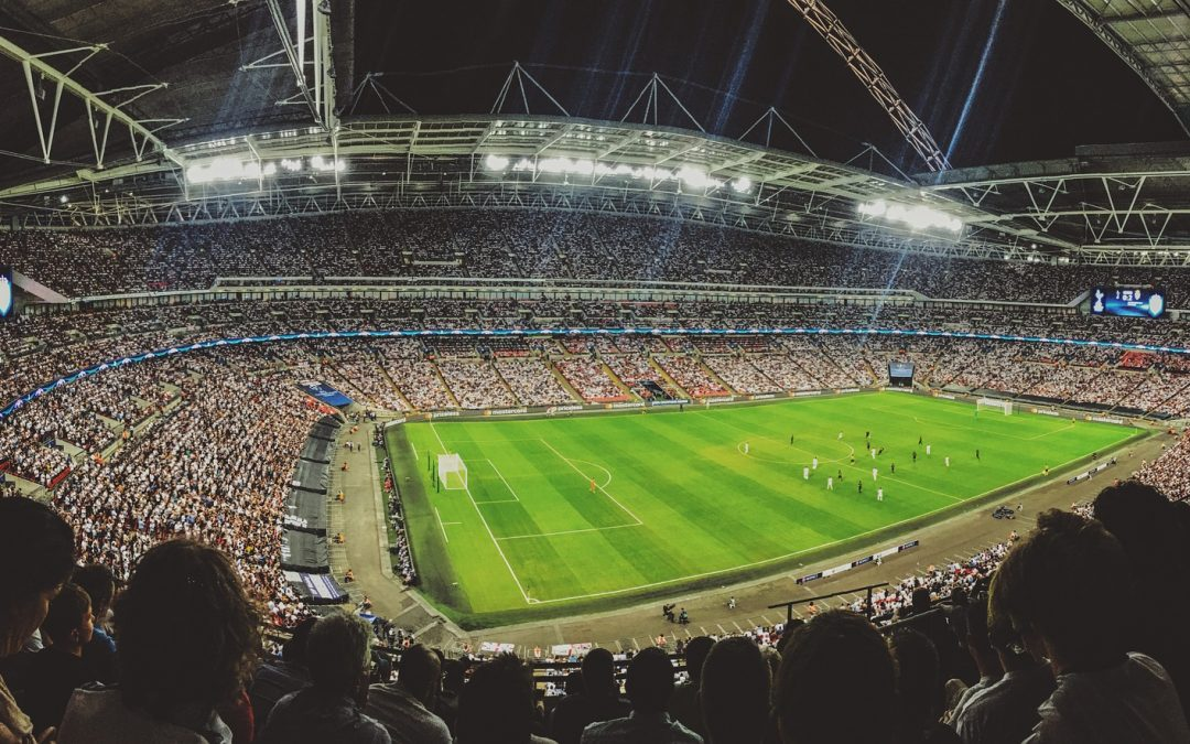 World cup stadium match at night